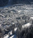 Ski resort town stock images