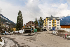 Ski resort town Bad Gastein in winter snowy mountains, Austria, Land Salzburg Stock Images