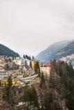 Ski resort town Bad Gastein in winter snowy mountains, Austria, Land Salzburg Royalty Free Stock Photography