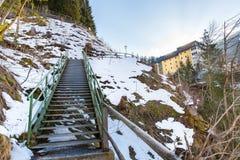 Ski resort town Bad Gastein in winter snowy mountains, Austria, Land Salzburg Stock Images