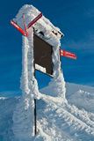 Ski resort trail direction sign Royalty Free Stock Photos