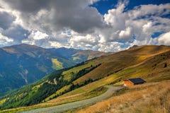 Ski resort in Tyrolean Alps in autumn, Austria Stock Images