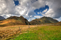 Ski resort in Tyrolean Alps in autumn, Austria Royalty Free Stock Images