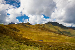 Ski resort in Tyrolean Alps in autumn, Austria Royalty Free Stock Image