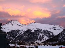 Ski  resort Val d'Izere. France Royalty Free Stock Photography