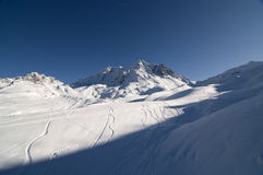 Ski resort, Val Thorens, France Royalty Free Stock Photo