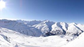 Ski resort in Valloire, France stock photos