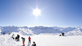 Ski resort in Valloire, France royalty free stock photo