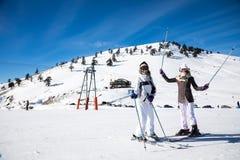 Ski Resort Vasilitsa in de bergketen van Pindos, in Griekenland Royalty-vrije Stock Foto