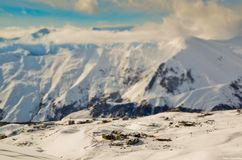 Ski resort. View of the ski resort Gudauri Royalty Free Stock Photos