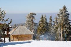 Ski Resort. village people Royalty Free Stock Images