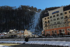 Ski resort village, Rosa Khutor. Stock Image