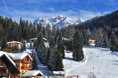 Ski Resort von Madonna di Campiglio, Italien Lizenzfreies Stockbild