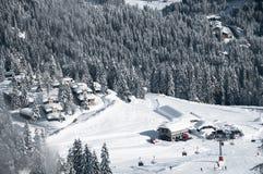 Ski Resort von Madonna di Campiglio, italienische Alpen, Italien Lizenzfreies Stockbild