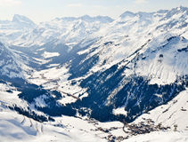 Ski resort in Voralberg royalty free stock images
