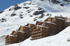 Ski resort in winter royalty free stock photography