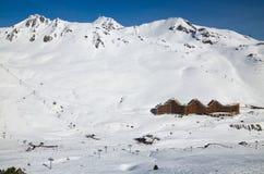 Ski resort in the winter Pyrenees Stock Photos