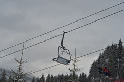 Ski resort in winter time Royalty Free Stock Photography