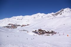 Ski resort winter view Stock Image
