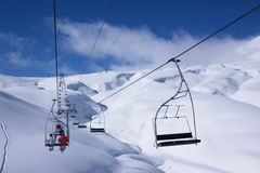 Ski resort winter view Stock Image