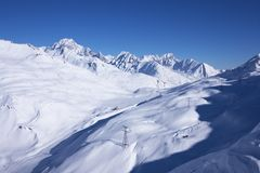 Ski resort winter view Royalty Free Stock Photos