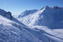 Ski resort winter view Stock Photos