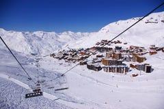 Ski resort winter view Royalty Free Stock Image