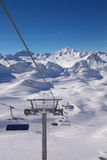 Ski resort winter view Royalty Free Stock Photography