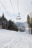 Ski resort in the wood. Royalty Free Stock Photos