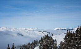 Ski resort Zell am See Royalty Free Stock Photo