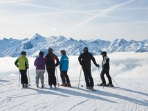 Ski resort Zell am See. Mountains under snow. Ski resort Zell am See. Austria Royalty Free Stock Photos