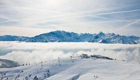 Ski resort Zell am See Stock Image