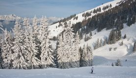 Ski resort Zell am See. Austria Stock Image
