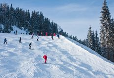 Ski resort Zell am See Royalty Free Stock Images