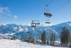 Ski resort Zell am See Stock Photo
