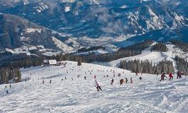 Ski resort Zell am See Royalty Free Stock Image