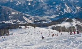 Ski resort Zell am See. Austria Royalty Free Stock Image