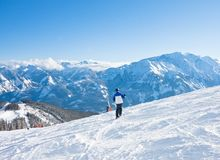 Ski resort Zell am See Stock Photos