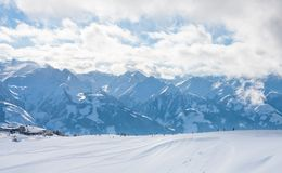 Ski resort Zell am See Stock Photo