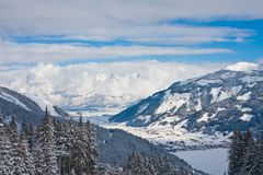 Ski resort Zell am See Royalty Free Stock Photography