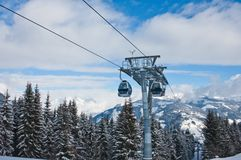 Ski resort Zell am See, Austria Stock Image