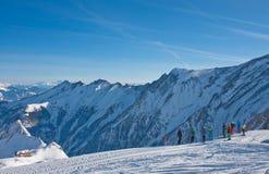 Ski resort Zell am See. Austria. View of Ski resort Zell am See. Austria Stock Image