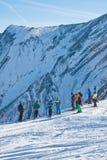 Ski resort Zell am See. Austria. View of Ski resort Zell am See. Austria Royalty Free Stock Photography