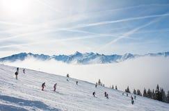 Ski resort Zell am See. Austria. Mountains under snow. Ski resort Zell am See. Austria Stock Photography