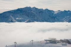 Ski resort Zell am See. Austria Stock Photos