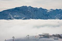 Ski resort Zell am See. Austria. Mountains under snow. Ski resort Zell am See. Austria Stock Photos