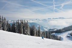 Ski resort Zell am See. Austria. Mountains under snow. Ski resort Zell am See. Austria Stock Images
