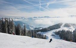 Ski resort Zell am See. Austria. Mountains under snow. Ski resort Zell am See. Austria Stock Photo