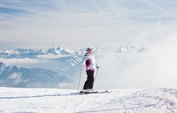 Ski resort Zell am See. Austria. Mountains under snow. Ski resort Zell am See. Austria Stock Image