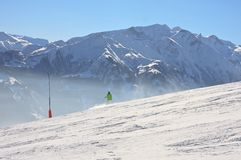 Ski resort Zell am See, Austria. N Alps at winter Royalty Free Stock Images